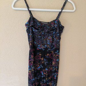 Intimately Free People Black Floral Dress S